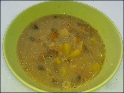 Zupa grzybowa z suszonych grzybków
