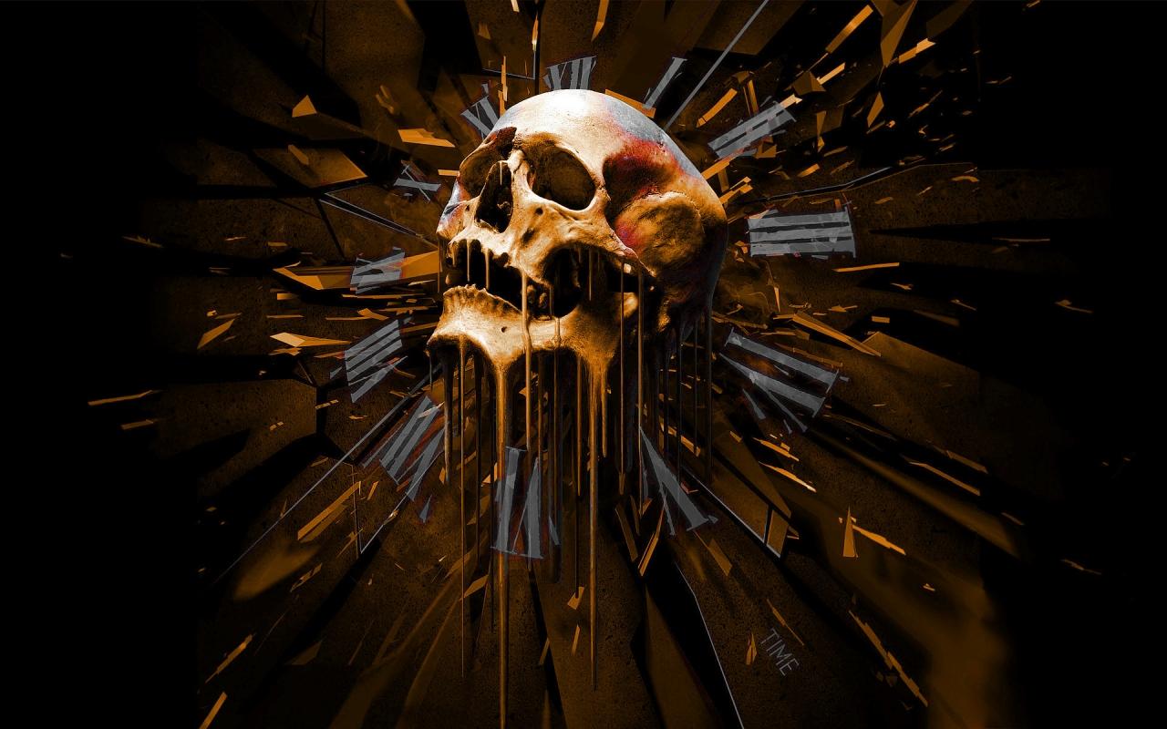 Time Skull, HD Wallpaper