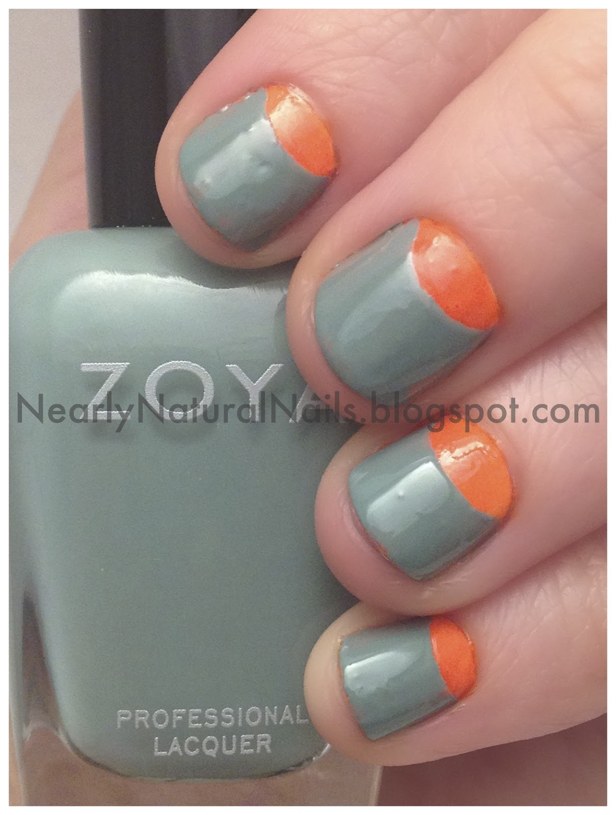Neon Orange Nail Polish Designs