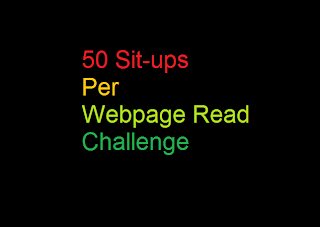 50 sit ups per web page read challenge