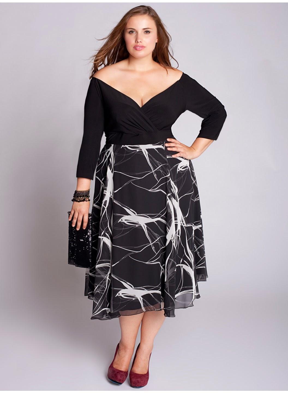 Vestidos de moda para mujeres gorditas