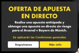 Predicción Arsenal vs Bayern Munich hoy martes 20 octubre 2015 Liga de Campeones