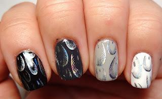 Foil Feather Nails
