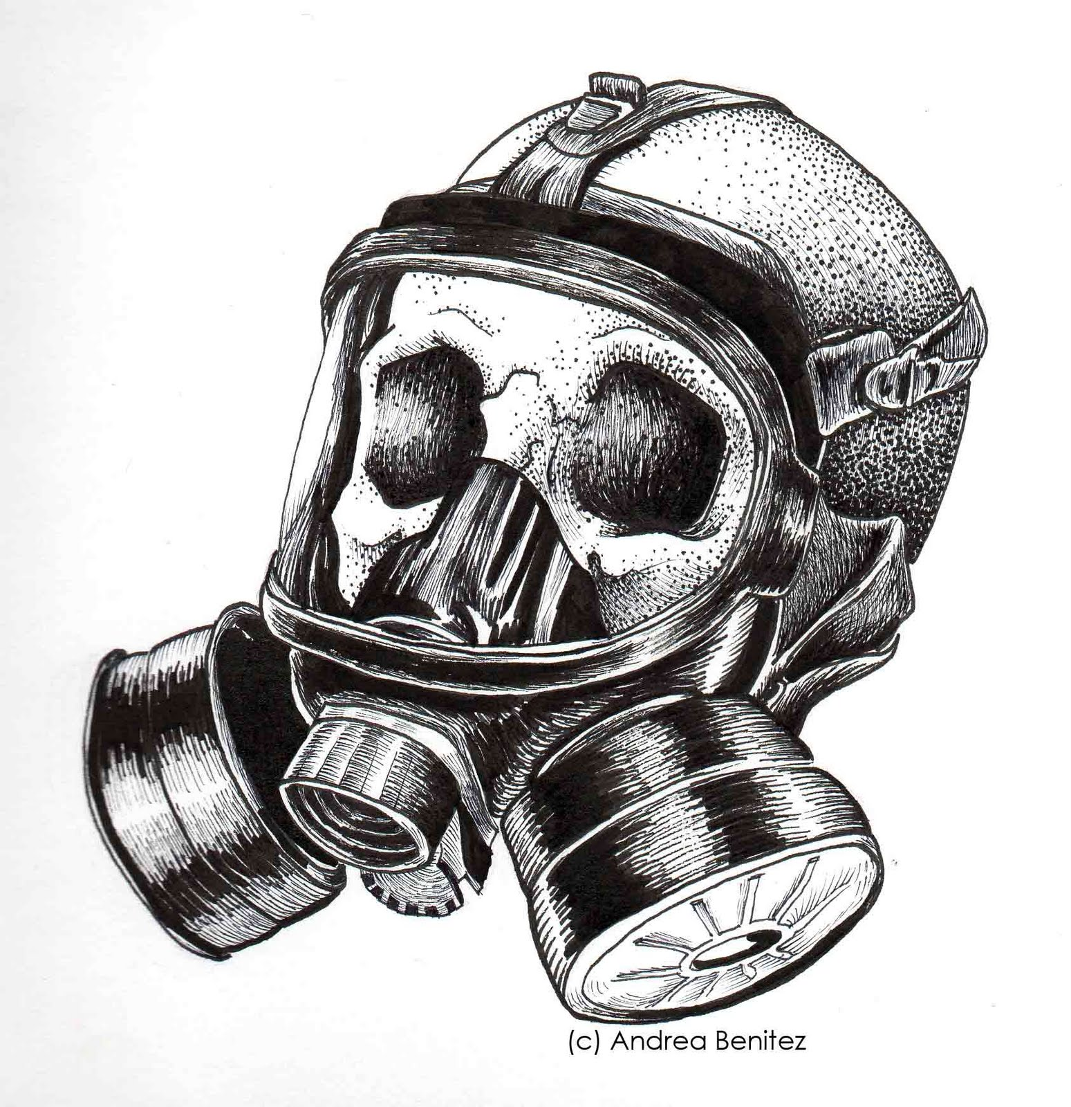Skull Gas Mask Drawings Gas Mask Skull...336 x 375