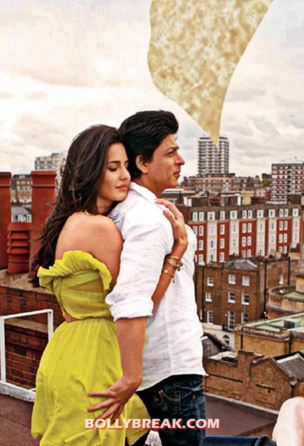 katrina kaif in yellow dress with SRK - Jab Tak Hai Jaan Brand New Poster