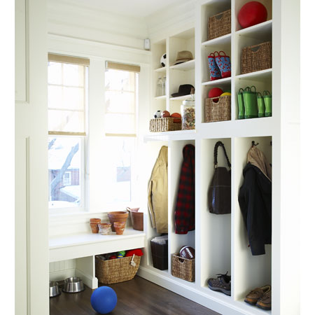 refresheddesigns.: small mudroom solutions for winter