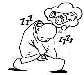 sleepy meditator