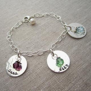 Http Www Babynamecharms Item Personalized Birthstone Mom S Bracelet 4798