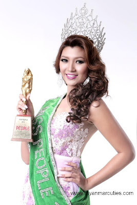 Waist No:16- Yoon Mhi Mhi Kyaw with people choice award