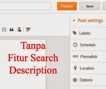 halaman new post tanpa search description