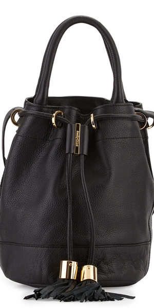 See by Chloe Vicki Leather Bucket Bag, Black