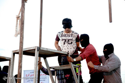 Public execution in Karaj, Iran, in July 2015