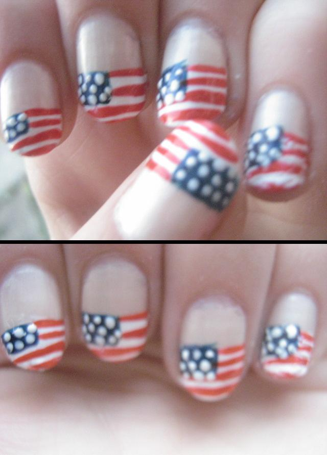 Nail art usa nail art designs view larger photo found on uploaded by user nail art designs images pictures usa flag design tweet american day nail art my first nail art since prinsesfo Choice Image