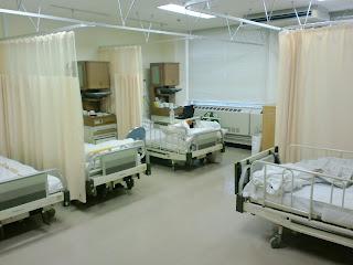 写真:第2病棟の6人部屋
