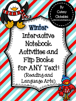 http://www.teacherspayteachers.com/Product/Winter-Interactive-Notebook-Activities-and-Flip-Books-for-ANY-text-1001117