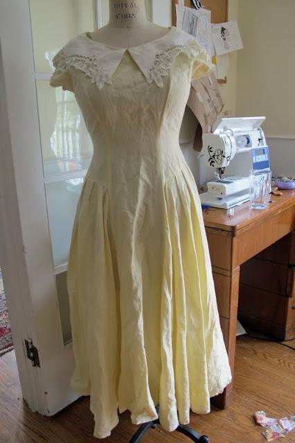 Wedding dress design 2011 rediscovering spray starch for for Thrift store wedding dress