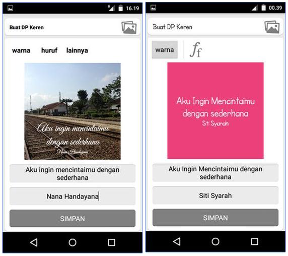 Aplikasi membuat kata mutiara di android