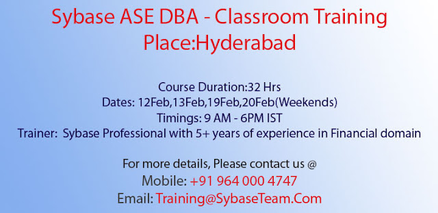 Sybase ASE DBA Training