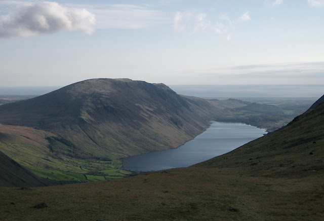 The view of Wastwater from our camp site
