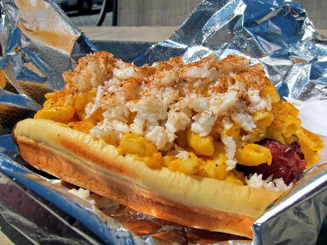 Baltimore Crab Mac N Cheese HotDog