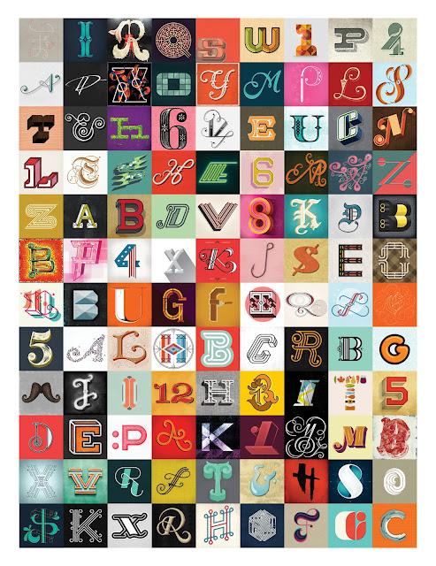 alphabet typo vintage