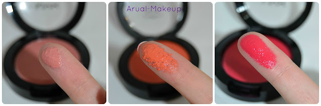 rose petal, orange red cheeks nyx
