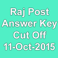 Rajasthan Post MTS Exam Answer Key & Cut Off Marks 2015