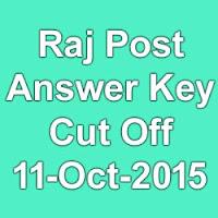 Rajasthan Post MTS Exam Answer Key & Cut Off Marks 2015