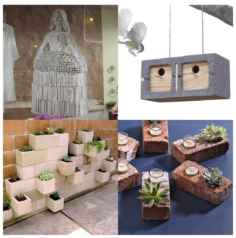 El mundo del reciclaje reciclar ladrillos y bloques - Muebles con ladrillos ...