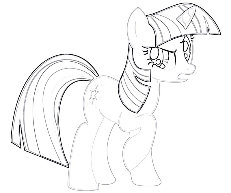#17 Twilight Sparkle Coloring Page