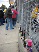 Entrance gate to Carb Day