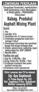 Lowongan Kerja S1 di Lampung