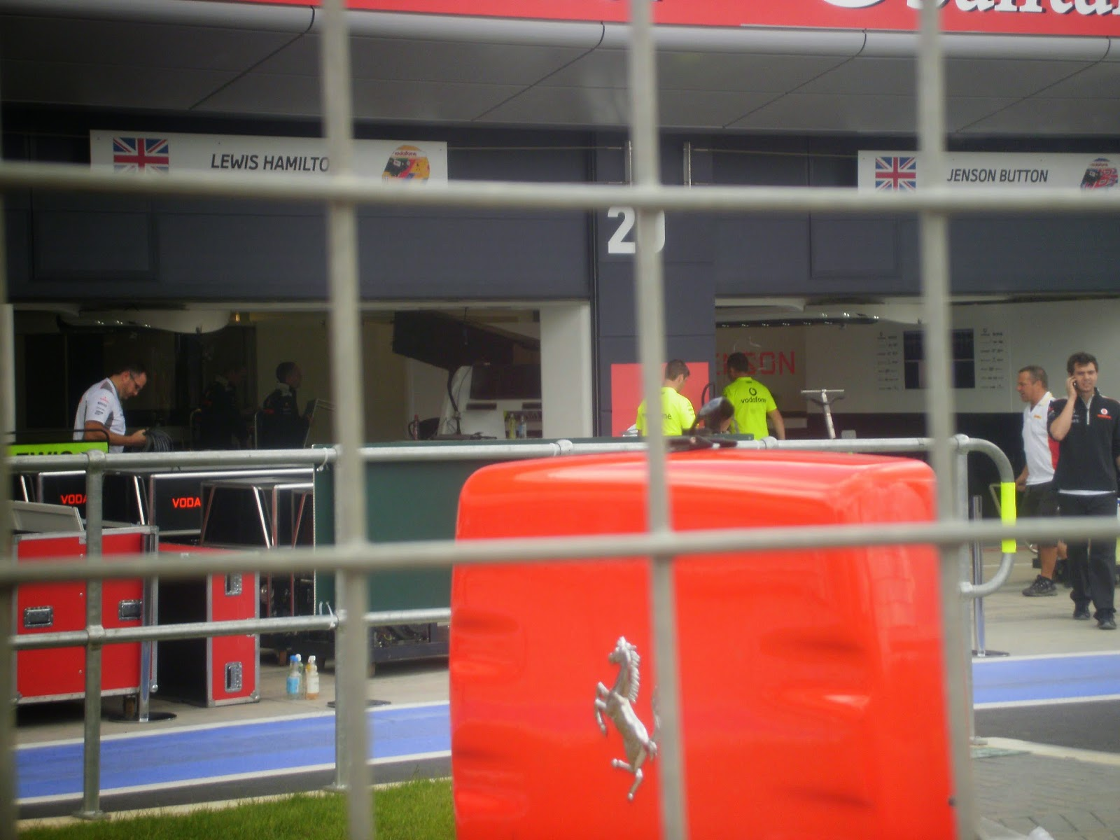 Silverstone Grand Prix F1 2012 McLaran garage Lewis Hamilton Jenson Button Melbourne Australian 2015