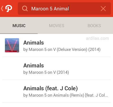 Ketik musik di pencarian - Cara Bermain dan Menggunakan Aplikasi Path - Android