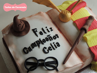 Tarta de Harry Potter: gafas