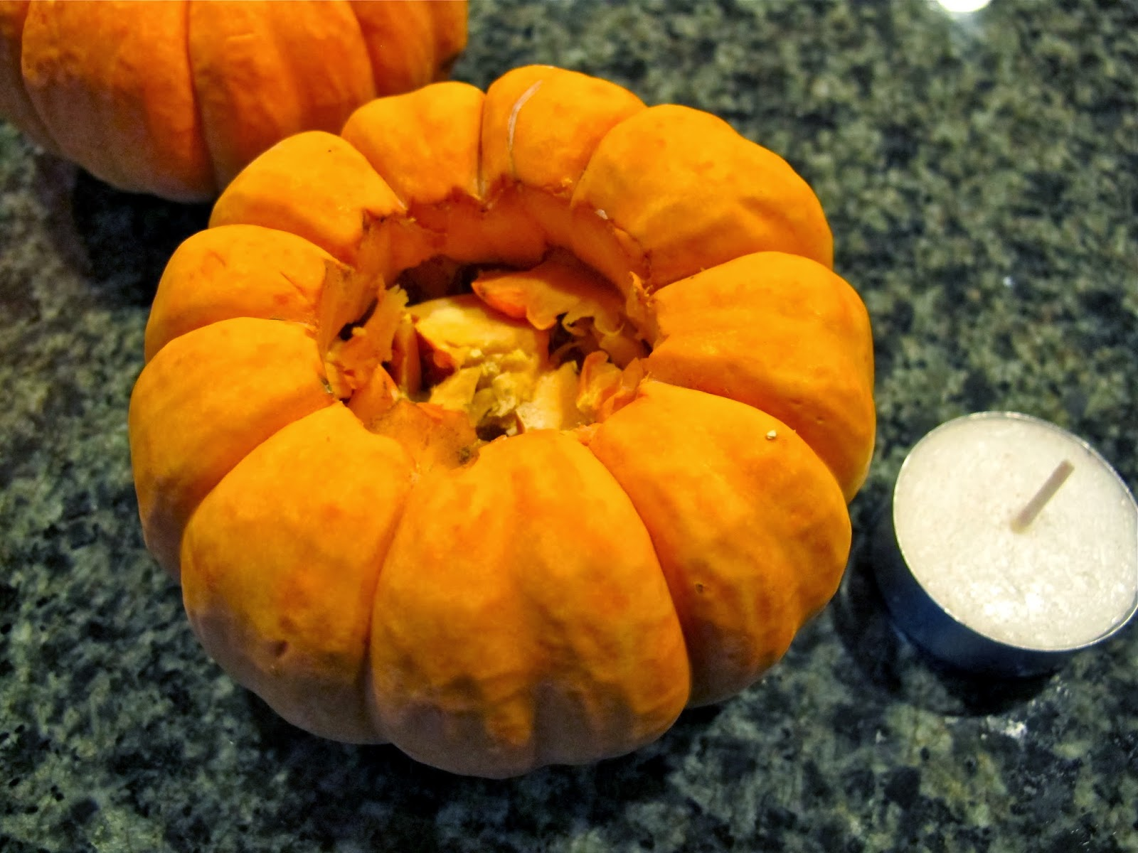 pumpkin tea light holder