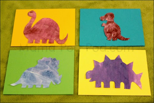 dinosaur birthday party invitations made from salt and watercolour artwork