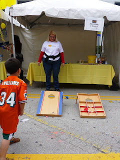 Child playing game at Duck Derby in Fort Lauderdale