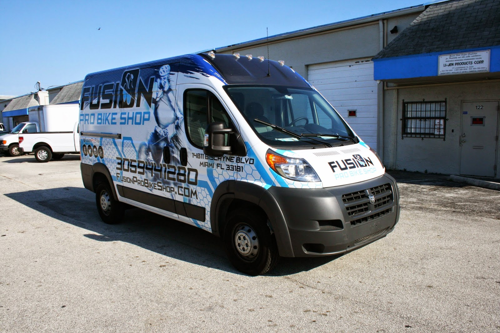 Dodge Promaster Vinyl Wrapped Cargo Van Miami Florida