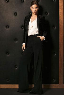 Massimo Dutti mujer fiesta americana terciopelo pantalones camisa