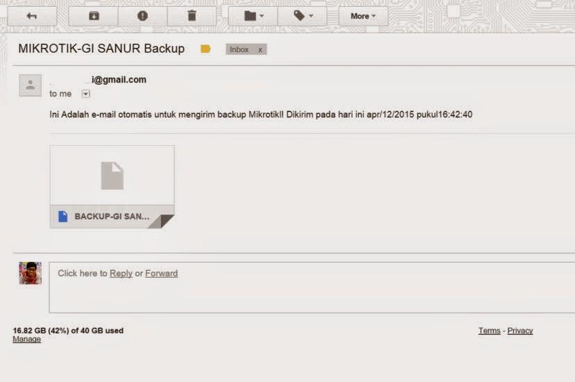 Cara Kirim Backup Mikrotik Otomatis via Email – Pusat Pengetahuan