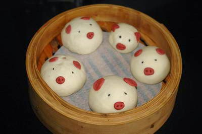 (Bánh bao ngọt) - Sweet Bun in Pig Shape
