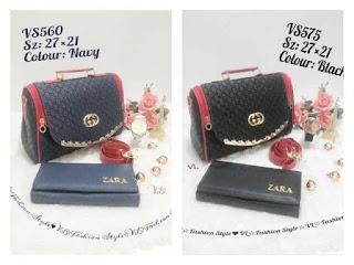 Paket Murah: Tas Cantik + Dompet + Jam Tangan Keren, 1 Paket 139 Rb