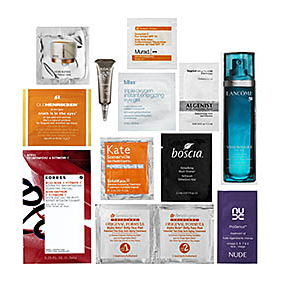 Bliss Triple Oxygen Instant Energizing Eye Gel, Korres Wild Rose + Vitamin C Advanced Brightening Sleeping Facial, Nude Skincare ProGenius Treatment Oil, Caudalie Vineperfect Firming Serum, Lancome Visionnaire Advanced Skin Corrector, Boscia Detoxifying Black Cleanser, Kate Somerville Exfolikate Intensive Exfoliating Treatment, Ole Henriksen Truth Is In The Eyes™ Vitamin C Peel Concentrate, Amore Pacific Future Response Age Defense Creme, Murad Essential-C Eye Cream SPF 15 PA++,