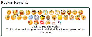 Cara menambahkan emoticons pada komentar blogger