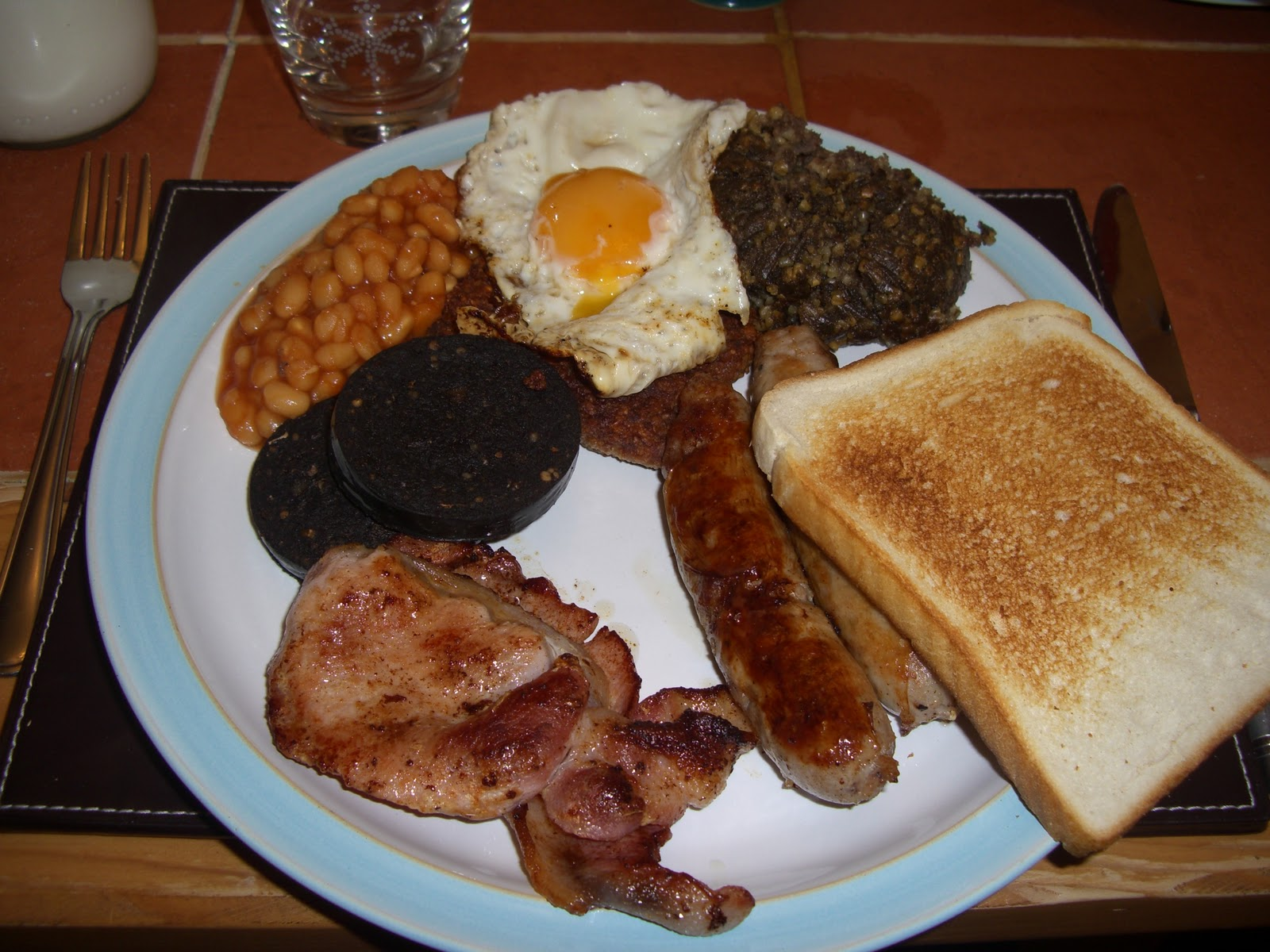 Scottish Breakfast Sausage Scottish Cooked Breakfast