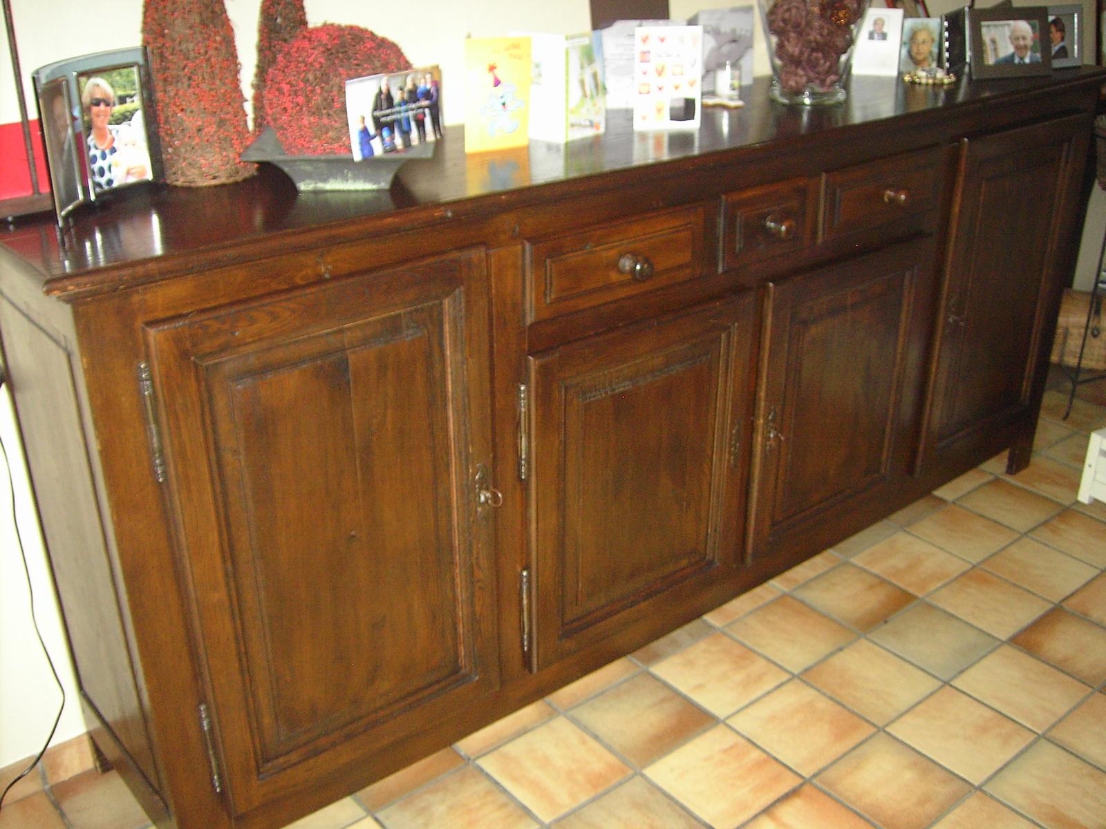 Meubelrenovatie renovatie eiken meubelen dressoir tafel vitrine salontafel waregem - Oude meubilair dressoir ...