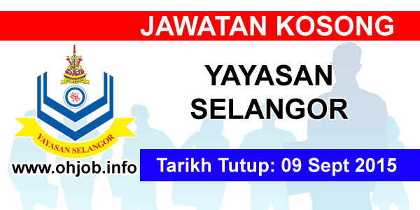 Jawatan Kerja Kosong Yayasan Selangor logo www.ohjob.info september 2015