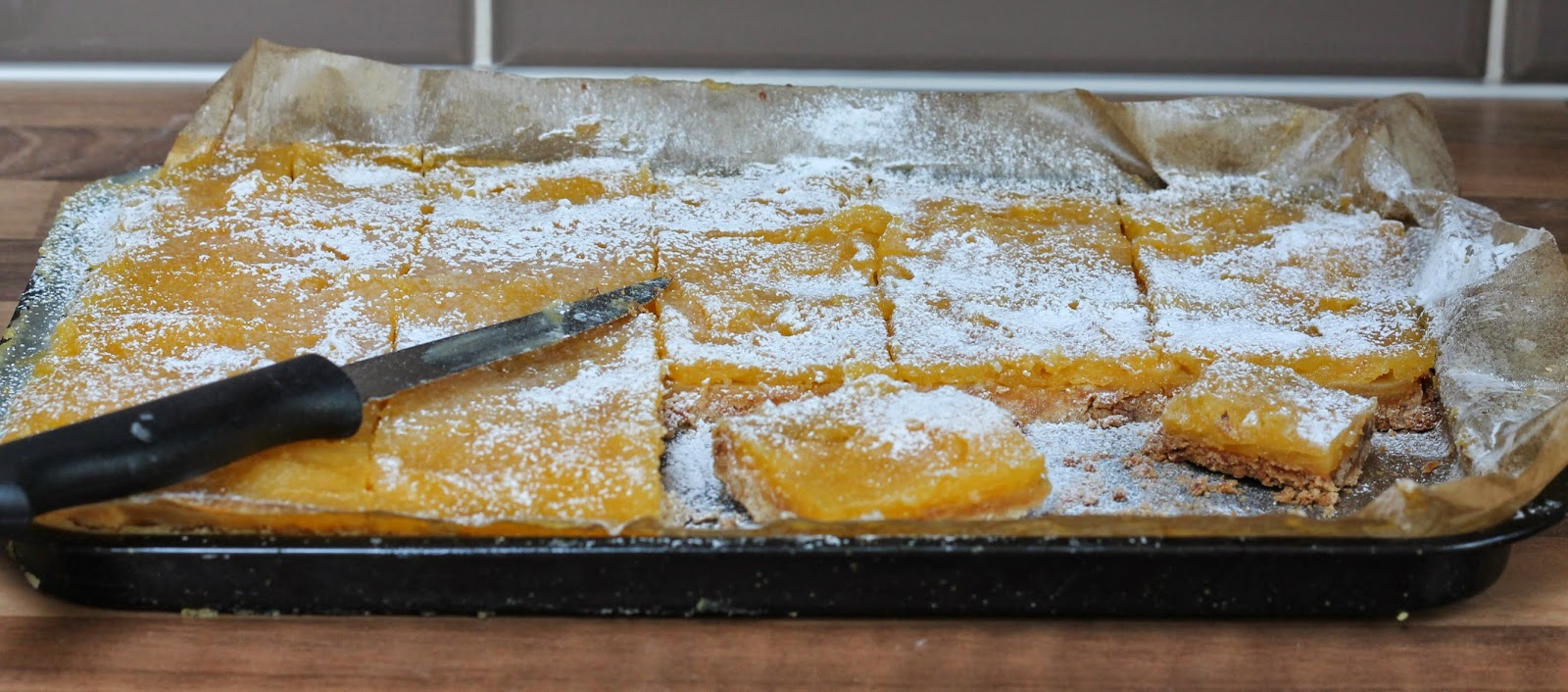 Brown butter shortbread lemon bars