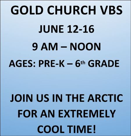 6-12/16 Gold Church VBS
